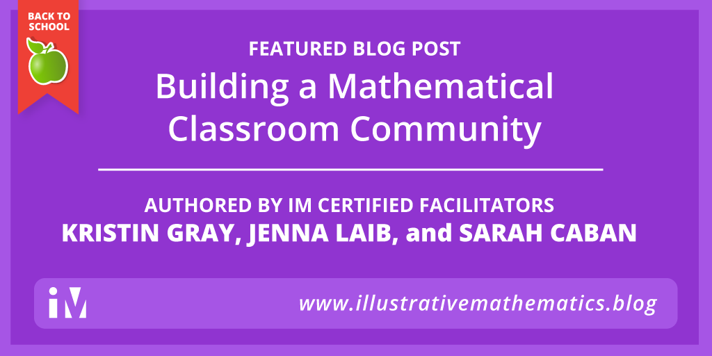 Building a Mathematical Classroom Community