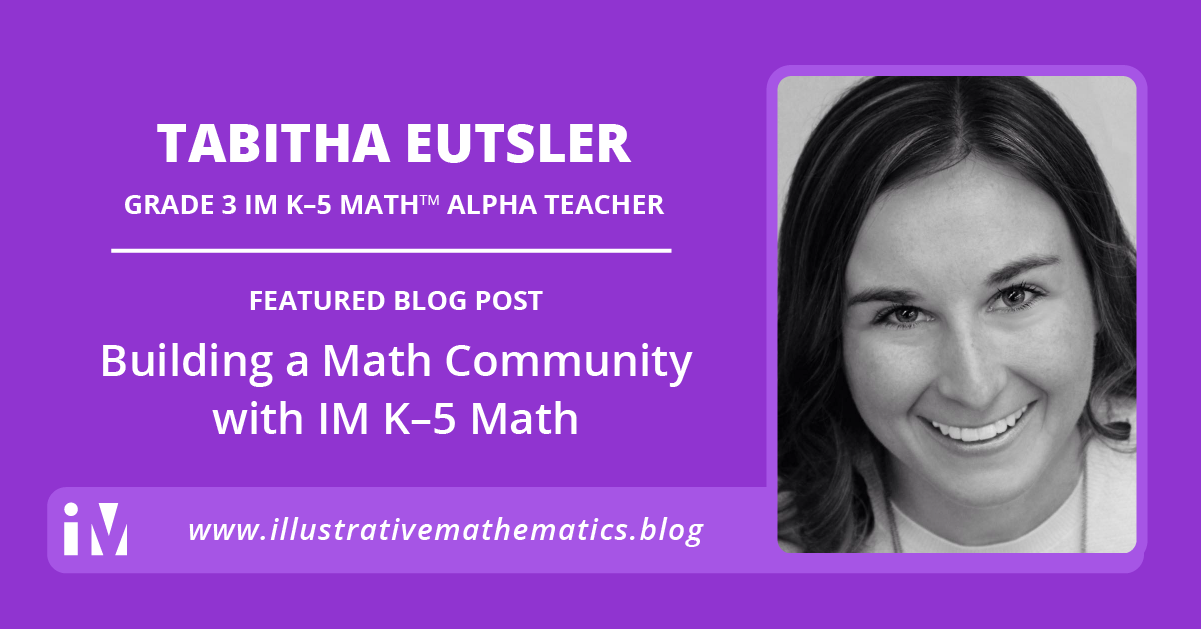 Building a Math Community with IM K–5 Math