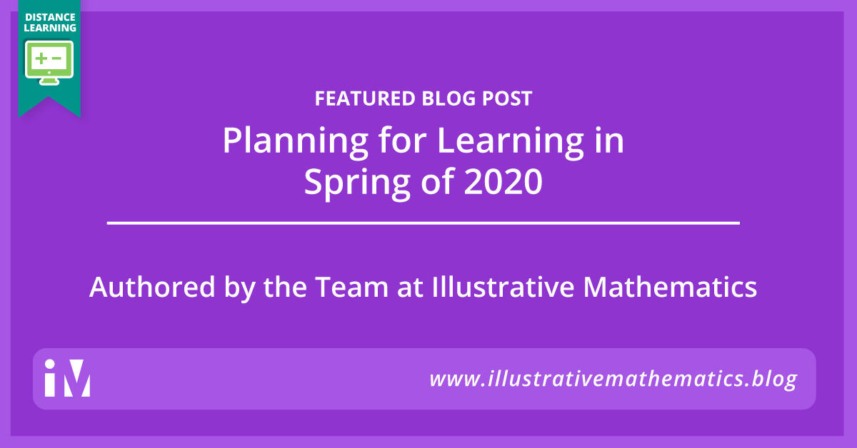 Planning for Learning in Spring of 2020