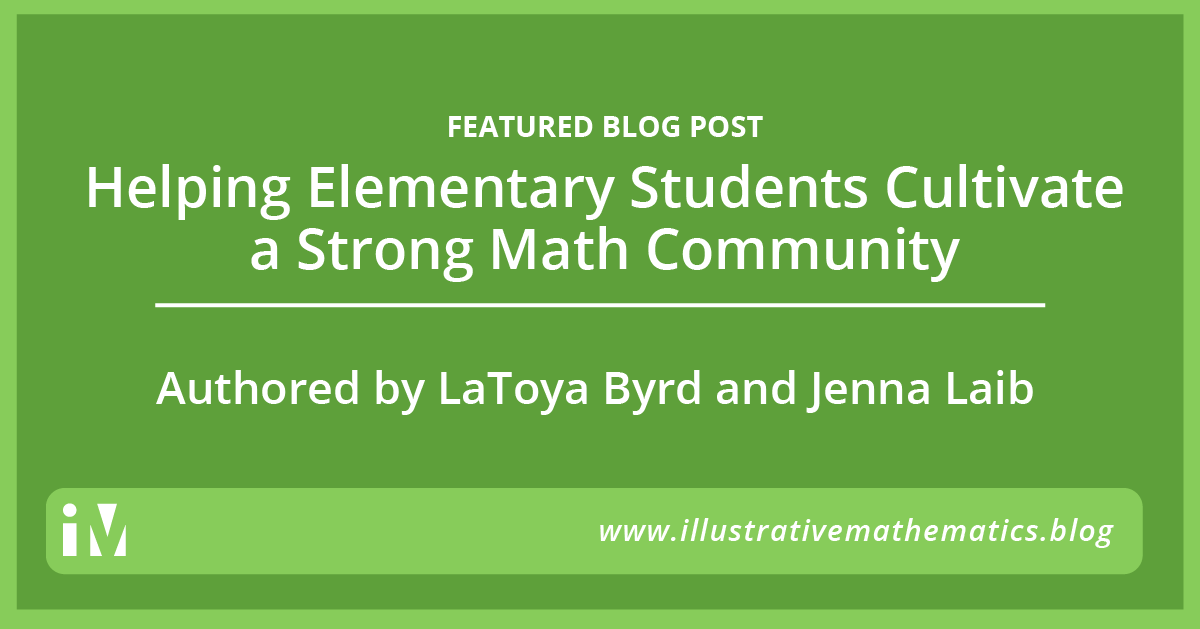 Helping Elementary Students Cultivate a Strong Math Community